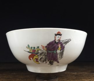 Christian's Liverpool slop bowl, Chinese family pattern, 1775 -0