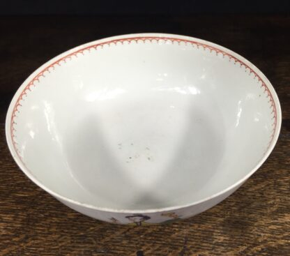 Christian's Liverpool slop bowl, Chinese family pattern, 1775 -14559
