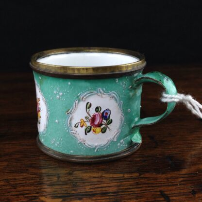 Unusual small English enamel cup, South Staffordshire, C. 1780-5017