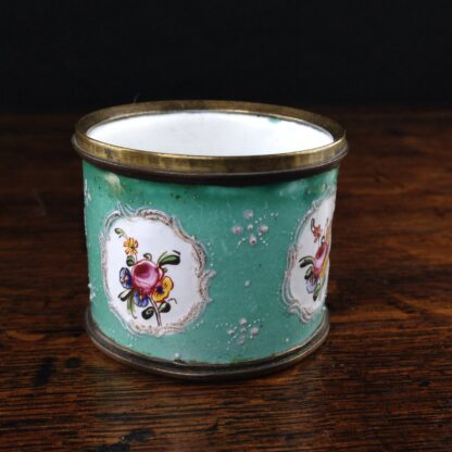 Unusual small English enamel cup, South Staffordshire, C. 1780-5018