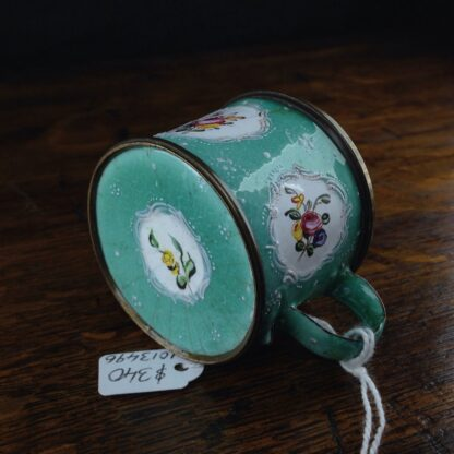 Unusual small English enamel cup, South Staffordshire, C. 1780-5021