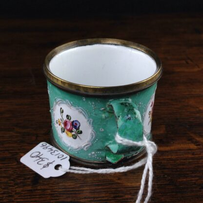 Unusual small English enamel cup, South Staffordshire, C. 1780-5022