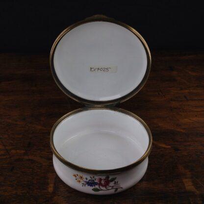 English enamel round box of large size, c. 1760 -5023