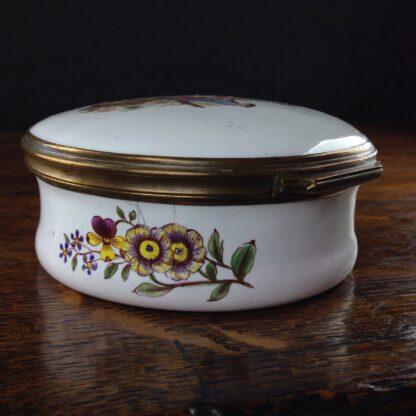 English enamel round box of large size, c. 1760 -5024