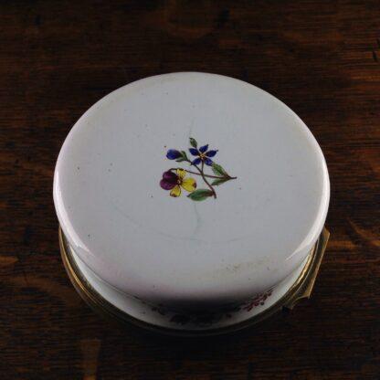 English enamel round box of large size, c. 1760 -5029