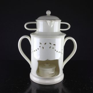 Creamware food warmer, circa 1775 -0