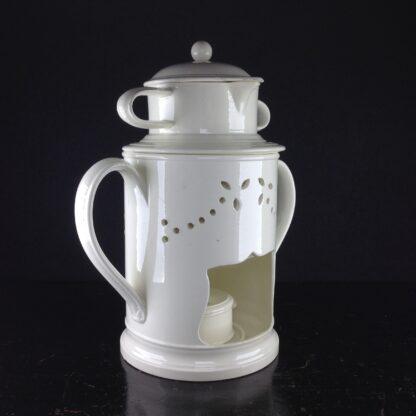 Creamware food warmer, circa 1775 -5053