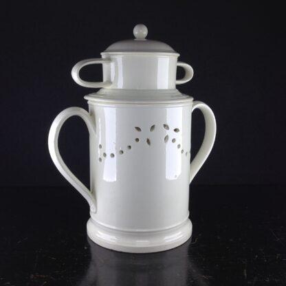 Creamware food warmer, circa 1775 -5055