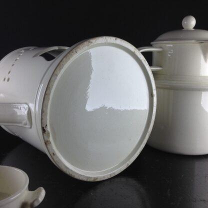 Creamware food warmer, circa 1775 -5059