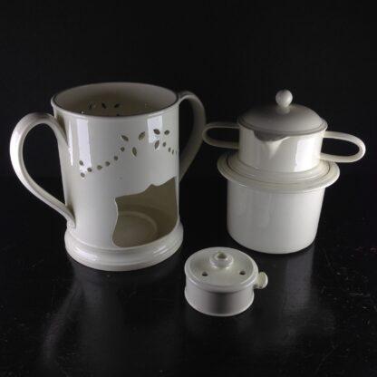 Creamware food warmer, circa 1775 -5064