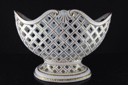 Meissen Flaschenständer, basketweave form, circa 1745 -5103