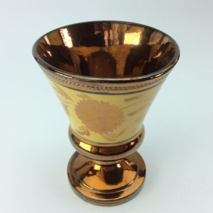 Copper lustre goblet, C1830.-5321