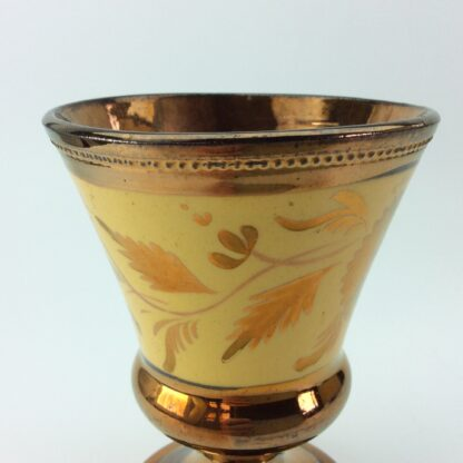 Copper lustre goblet, C1830.-5322
