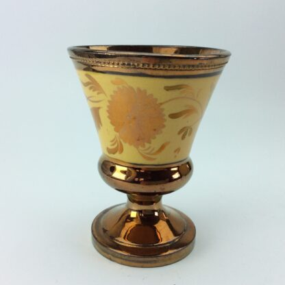 Copper lustre goblet, C1830.-0