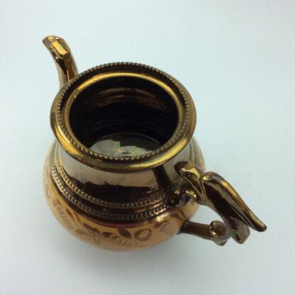 Victorian copper lustre teapot, C 1850.-6425