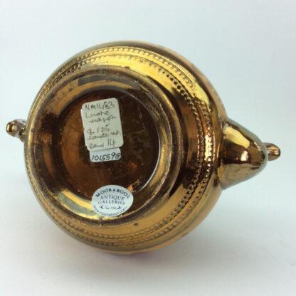 Victorian copper lustre teapot, C 1850.-6421