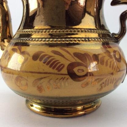 Victorian copper lustre teapot, C 1850.-6422