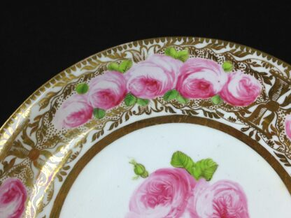 Coalport cup & saucer dec. with roses in the Welsh manner, c.1825 -5383
