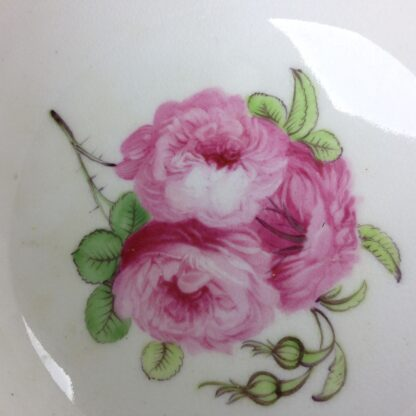 Coalport cup & saucer dec. with roses in the Welsh manner, c.1825 -5387
