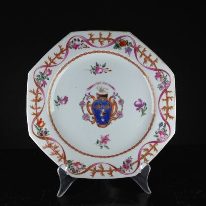 English replacement plate for a Chinese service, arms of Cullen, attr. Miles Mason c.1805 -0