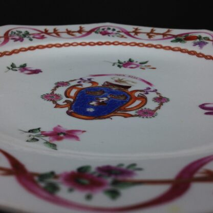 English replacement plate for a Chinese service, arms of Cullen, attr. Miles Mason c.1805 -5408