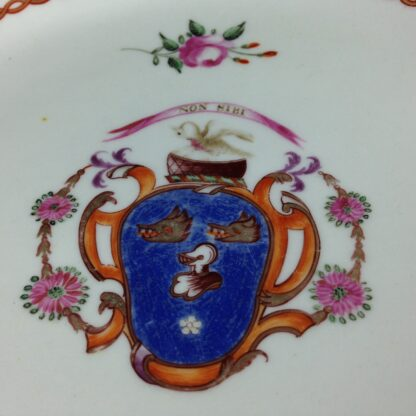 English replacement plate for a Chinese service, arms of Cullen, attr. Miles Mason c.1805 -5409