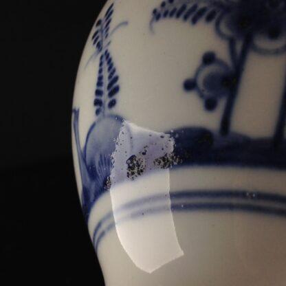 Vienna teapot, underglaze fels-und-vogel pattern, c.1760 -5449