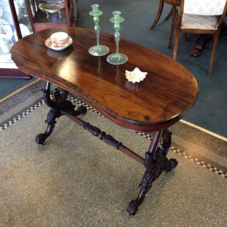Victorian Rosewood kidney shape table, C1860-0