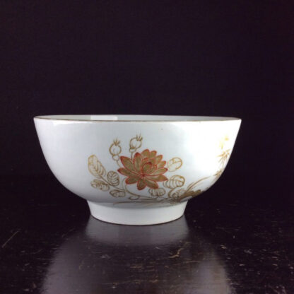 Worcester slop bowl, painted with gilt crane pattern, London decorated, probably Giles, c.1775 -6411