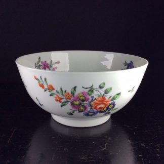 Worcester waste bowl, James Giles flower groups, crossed swords mark, c. 1765 -0
