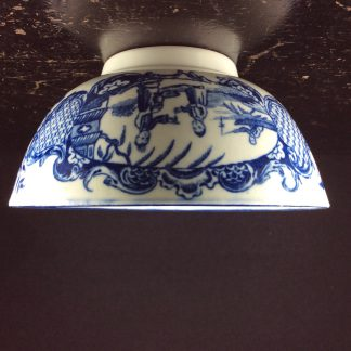 Worcester blue & white bowl, Mother and Child and Man Fishing pattern, C. 1775 -0