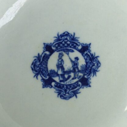 Worcester blue & white bowl, Mother and Child and Man Fishing pattern, C. 1775 -6047
