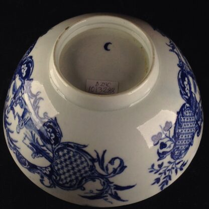 Worcester blue & white bowl, Mother and Child and Man Fishing pattern, C. 1775 -6049