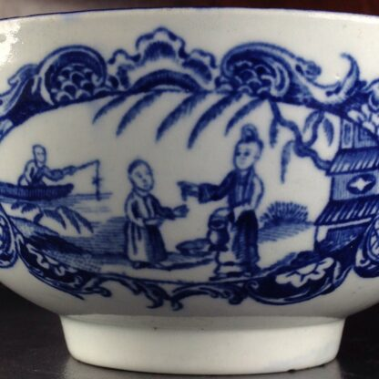 Worcester blue & white bowl, Mother and Child and Man Fishing pattern, C. 1775 -6050