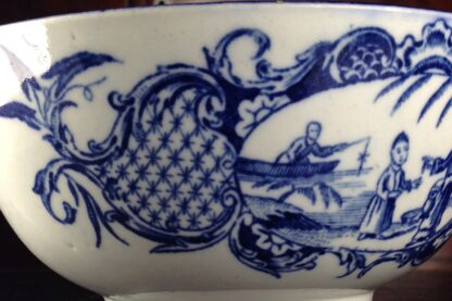 Worcester blue & white bowl, Mother and Child and Man Fishing pattern, C. 1775 -6051