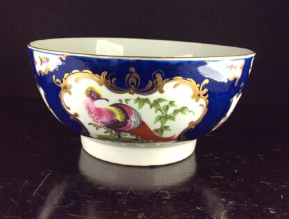 Worcester Blue Scale bowl with birds, c.1765-70. -6063