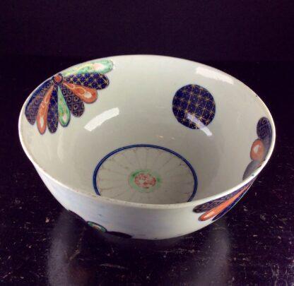 Worcester slop bowl with brocade pattern, c.1775 -6077
