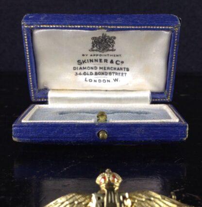 Gold RAF badge, 'sweethearts' brooch, WWII-6182