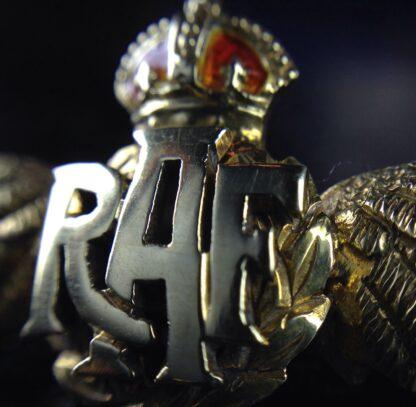 Gold RAF badge, 'sweethearts' brooch, WWII-6185