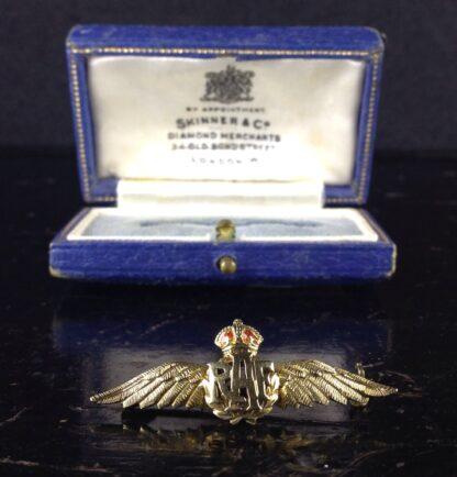 Gold RAF badge, 'sweethearts' brooch, WWII-6186