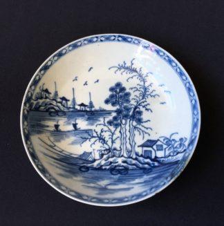 Worcester saucer, Rock Strata pattern, c.1775 -0