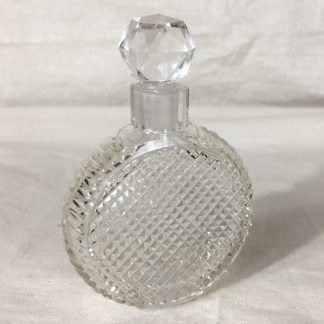 Victorian glass perfume bottle, c 1860.-0