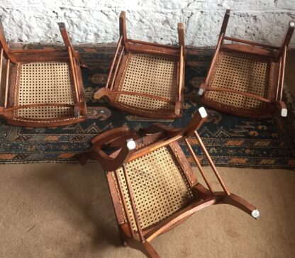 Set of four American chairs, by Smith Ely, NYC, circa 1830-13615