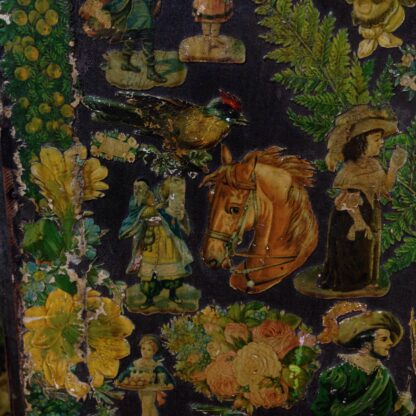 Victorian scrap screen, over 2,000 images, c.1890 -5608