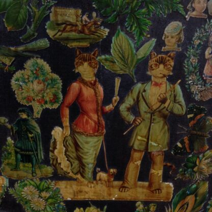 Victorian scrap screen, over 2,000 images, c.1890 -5609