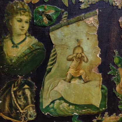 Victorian scrap screen, over 2,000 images, c.1890 -5632