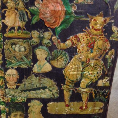 Victorian scrap screen, over 2,000 images, c.1890 -5639