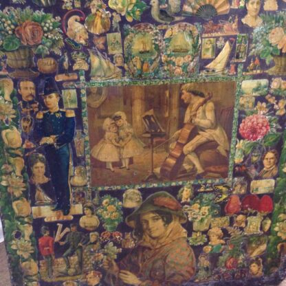 Victorian scrap screen, over 2,000 images, c.1890 -5640