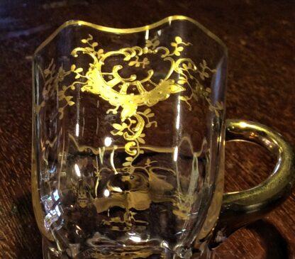 Moser glass cup & saucer, c.1890-5730