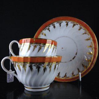 Chamberlains Worcester porcelain trio set, C.1795,-0